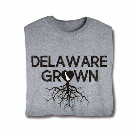 """Homegrown"" T-Shirt - Choose Your State - Delaware"