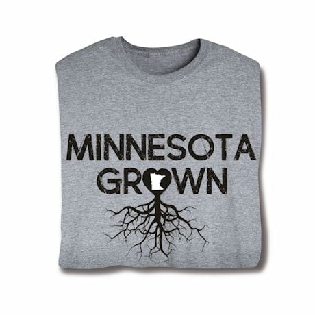 """Homegrown"" T-Shirt - Choose Your State - Minnesota"