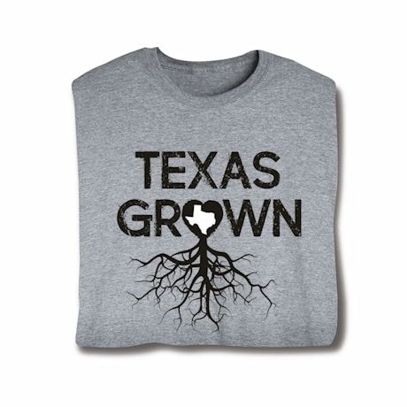 """Homegrown"" T-Shirt - Choose Your State - Texas"