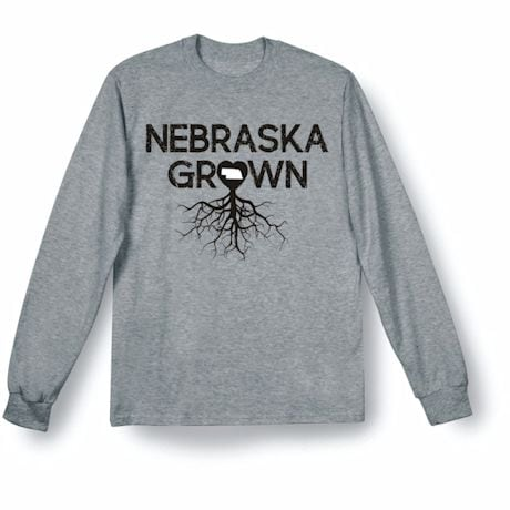 """Homegrown"" T-Shirt - Choose Your State - Nebraska"
