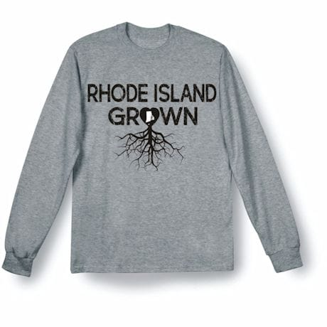 """Homegrown"" T-Shirt - Choose Your State - Rhode Island"