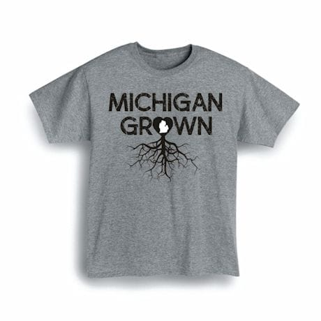 """Homegrown"" T-Shirt - Choose Your State - Michigan"