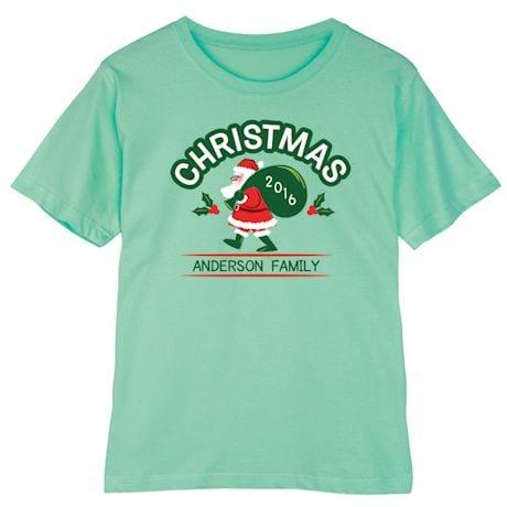 Personalized Vintage Santa Christmas Shirt