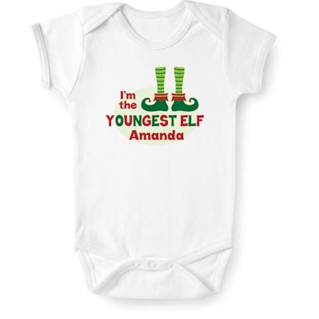 "Personalized ""Youngest Elf"" Shirt"