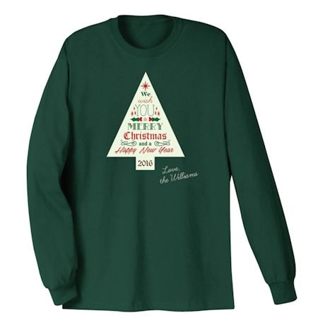 Personalized Merry Christmas Tree Family Shirt