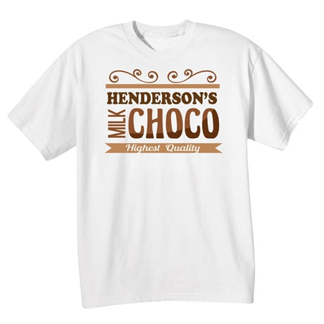 """Personalized """"Your Name"""" Choco Tee"""
