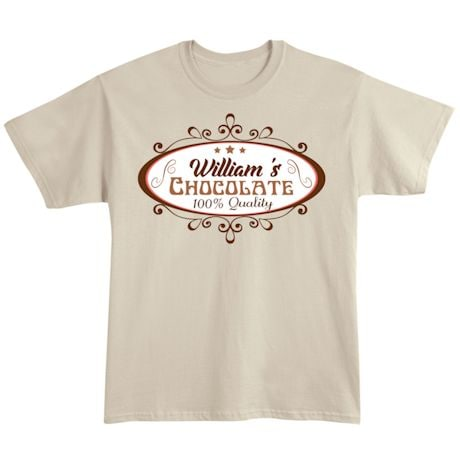 "Personalized ""Your Name"" 100% Quality Chocolate Tee"