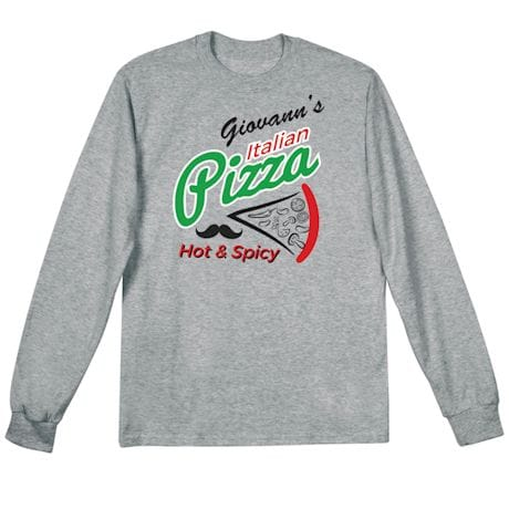 "Personalized ""Your Name"" Hot & Spicy Pizza Tee"