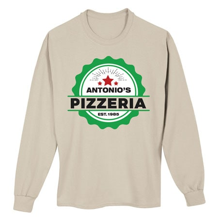 "Personalized ""Your Name"" Pizzeria Tee"