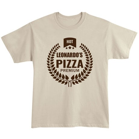 "Personalized ""Your Name"" Premium Pizza Tee"