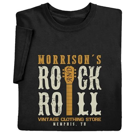 "Personalized ""Your Name"" Vintage Rock & Roll Tee"