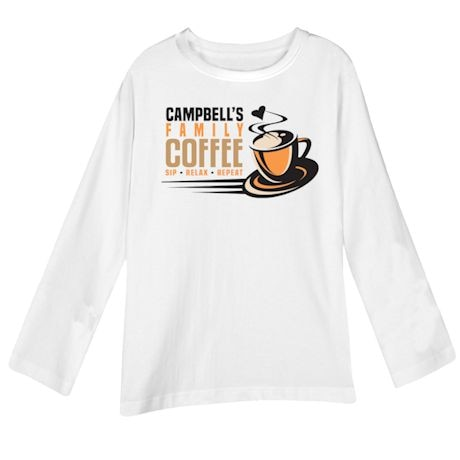 "Personalized ""Your Name"" Family Café Tee"