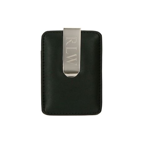 Monogrammed Money Clip with Card Holder