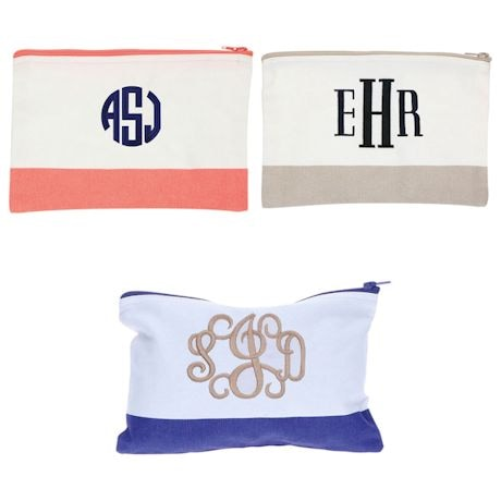 Monogrammed Color Block Pouch
