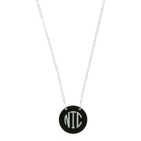 Monogrammed Acrylic Disc Necklace