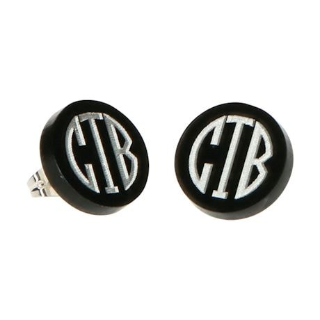 Monogrammed Acrylic Disc Earrings