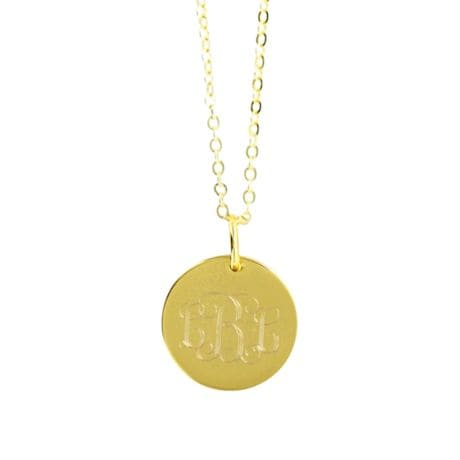 Monogrammed Circle Pendant Necklace