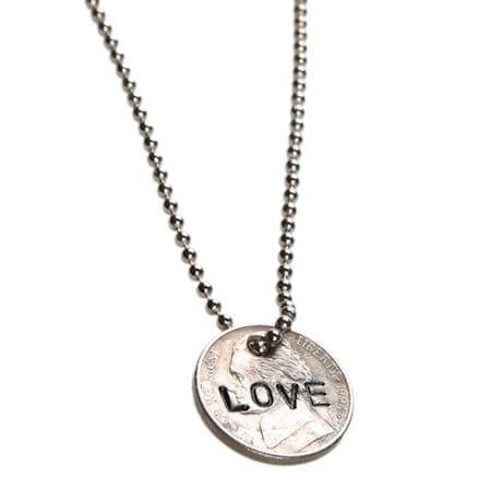 Personalized Hand-Stamped Nickel Necklace