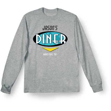 """Personalized """"Your Name"""" Classic Diner Tee"""