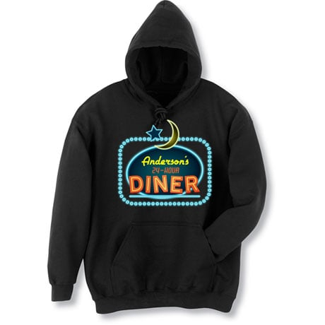"""Personalized """"Your Name"""" 24-Hour Diner Tee"""