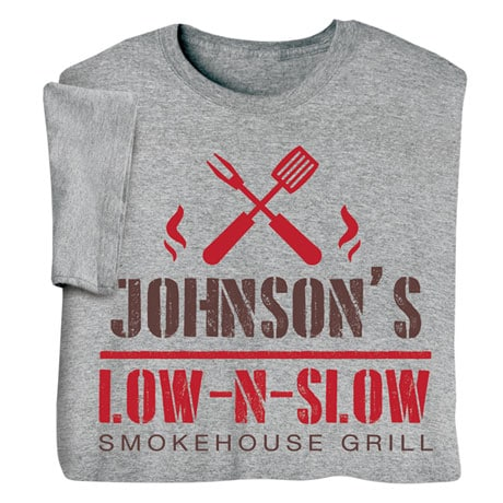 "Personalized ""Your Name"" Low N' Slow BBQ Tee"