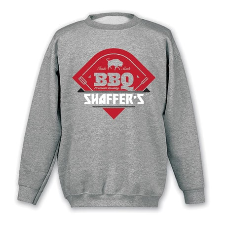"Personalized ""Your Name"" Premium Quality BBQ Tee"