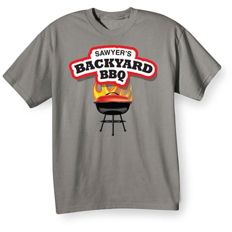 "Personalized ""Your Name"" Backyard BBQ Tee"