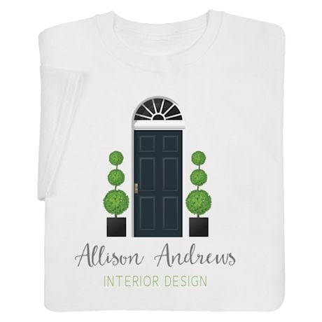 "Personalized ""Your Name"" Welcome Home Interior Design Tee"