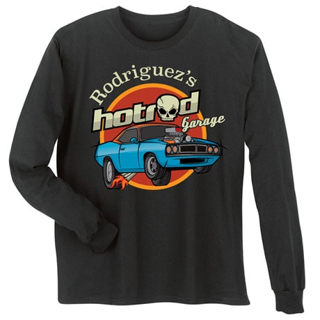 "Personalized ""Your Name"" Classic Hot Rod Tee"