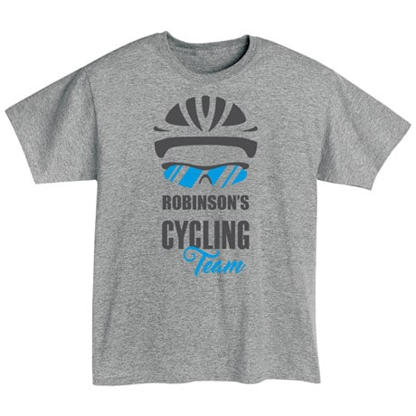 """Personalized """"Your Name"""" Cycling Team Tee"""