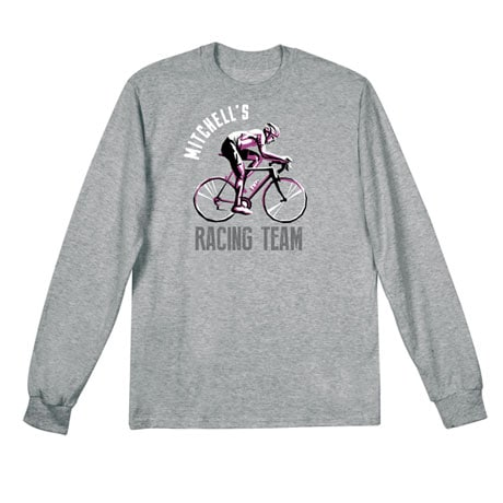 "Personalized ""Your Name"" Bicycle Racing Team Tee"