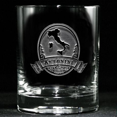 Personalized Italian Pride Whiskey Glass