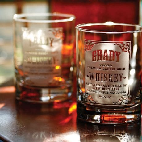Personalized Whiskey Label Whiskey Glasses - Set of 2