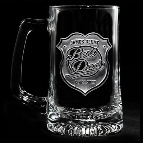 "Personalized ""Best Dad"" Beer Mug"