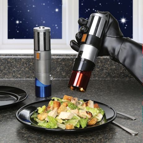 Star Wars Darth Vader Anakin Luke Skywalker Rey And Finn Lightsaber Salt & Pepper Mills