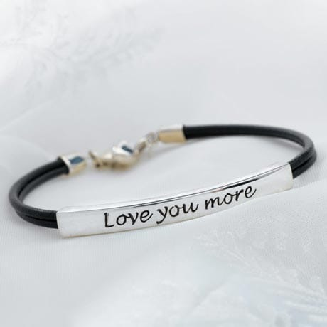 Love You More Bracelet - Sterling Silver (Not Engraved)