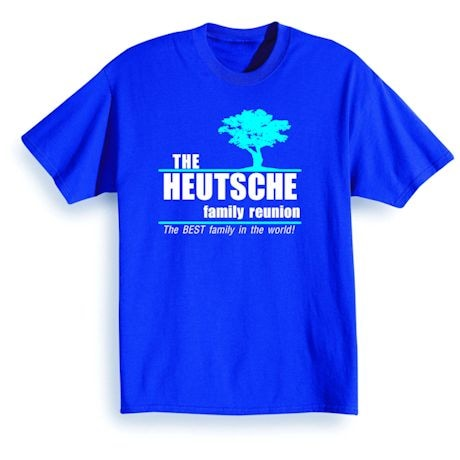 Personalized Family Reunion Shirts Apparel