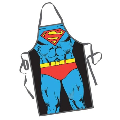 Comic Book Superhero Aprons in Retro Designs