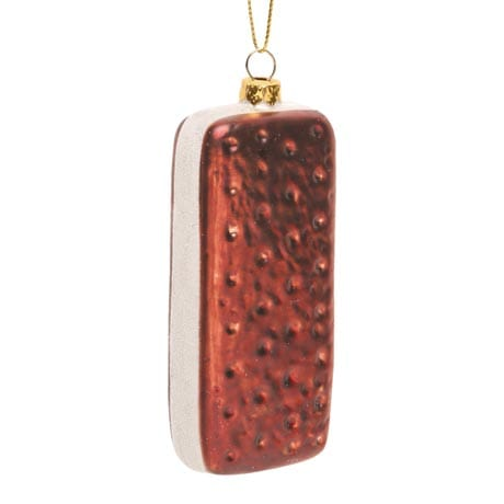 Ice Cream Sandwich Glass Ornament