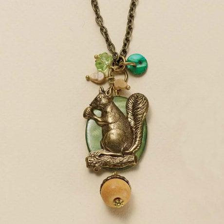 Squirrel & Acorn Jewelry - Necklace