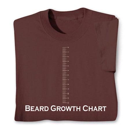Beard Growth Chart Shirts