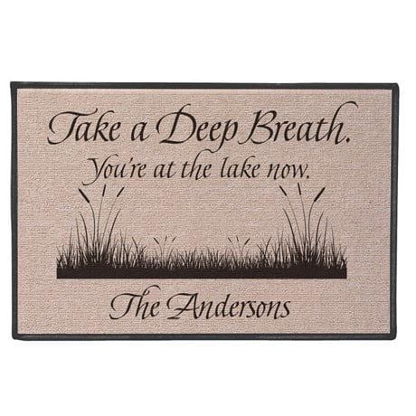 Personalized Take A Breath Doormat