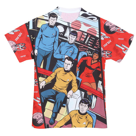 Classic Star Trek Sublimated T-Shirts - Comic