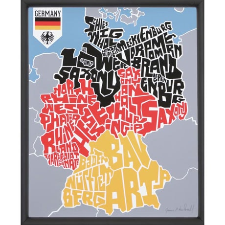 Designed Type Maps - Germany