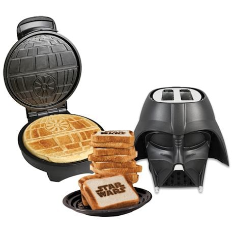 Star Wars Death Star Waffle Maker and Darth Vader Kitchen Appliance Gift Set