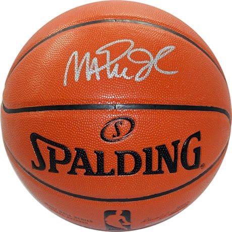 Magic Johnson Signed In Silver NBA I/O Basketball