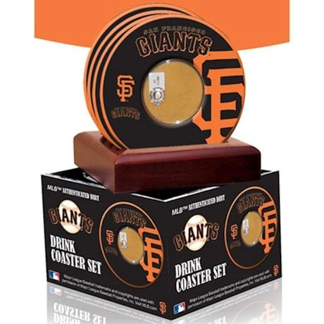 MLB Coasters With Game Used Dirt - Set Of 4