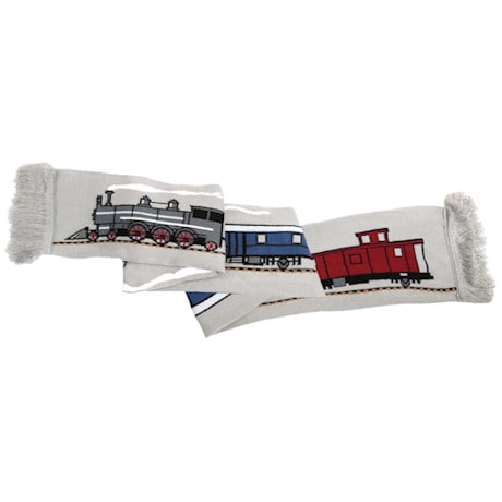 Railroad Track & Train Scarf