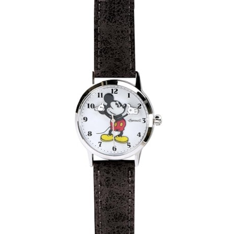Vintage-Style Mickey Mouse Watch- Black Band