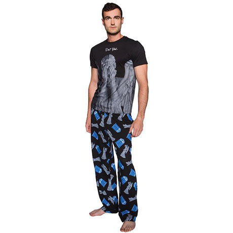 Doctor Who Don't Blink Pajama Sleep Set - Bottoms & Top